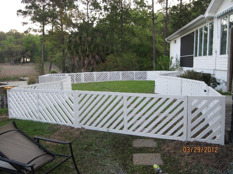 Custom Fence Side View