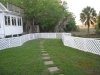Custom Fence Walkway View
