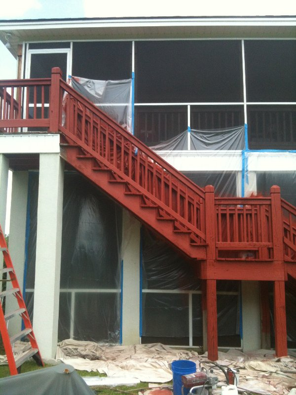 Deck Repair and Staining photo 1