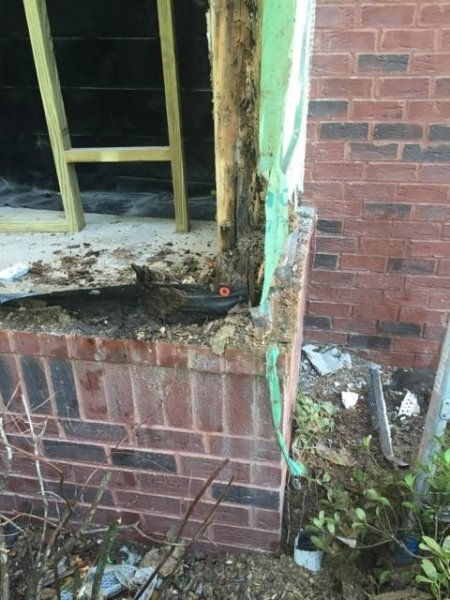 window framing water damage repair handyman savannah