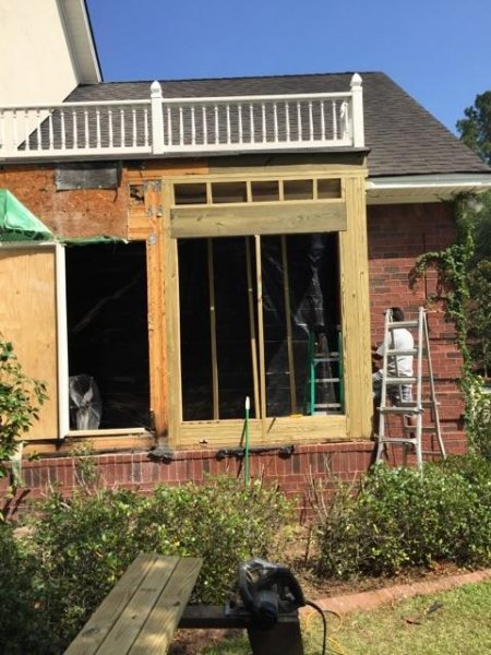 replacing water damage framing savannah