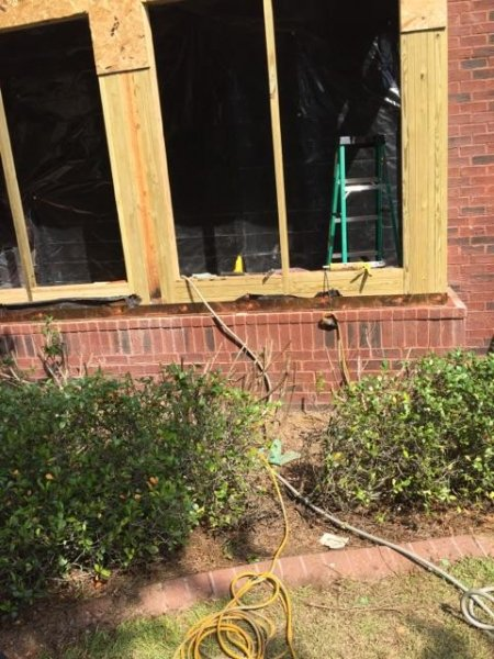 new window framing repair due to water damage