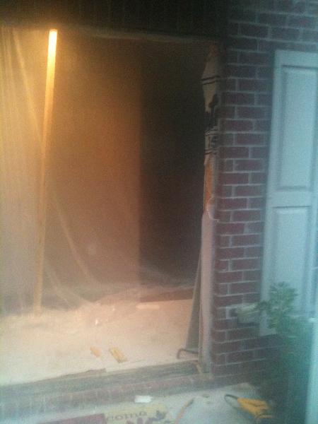 Reframing front door