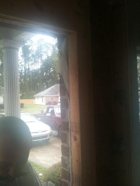 New framing around front door