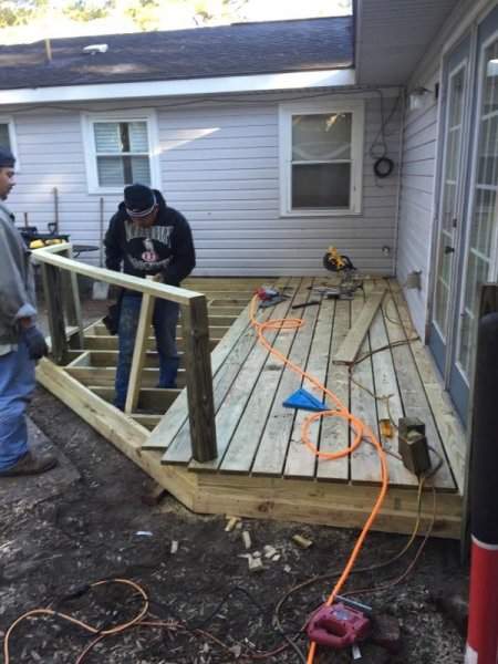 Wood Deck Replacement 12