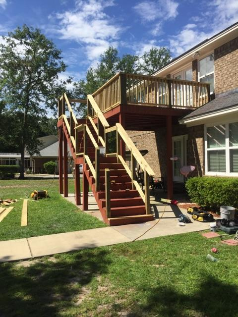 Custom Railing Built for A Deck Needing Repair and Replacement