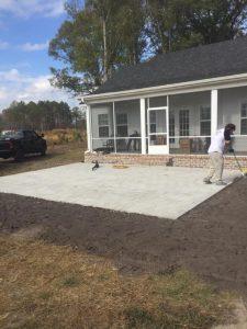 Handyman job custom back patio