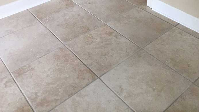 Ceramic Tile Floor Installation
