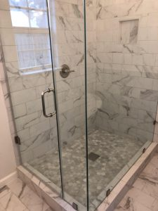 Bathroom remodel after with new shower